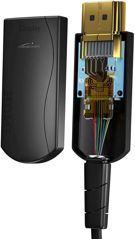 KabelDirekt 50m Câble optique HDMI compatible